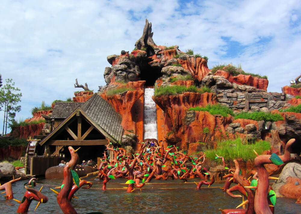 Splash Mountain רכבת הרים דיסניוורלד