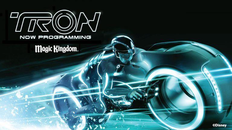 Tron - now programming billboard שלט במג'יק קינגדם דיסניוורלד