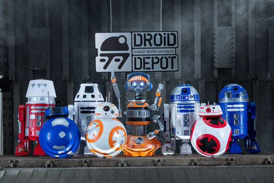 מלחמת הכוכבים קצה הגלקסיה Droid Depot ומרצ'נדייז חנויות