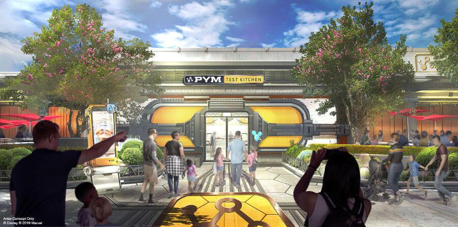 מסעדת חלקיקי פים אנט-מן והצרעה אזור מרוול אוונג'רז הנוקמים דיסנילנד פריז קליפורניה