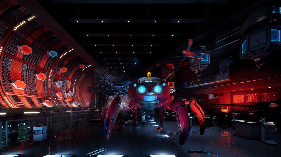 רובוט עכביש ספיידר-מן דיסנילנד קמפוס הנוקמים