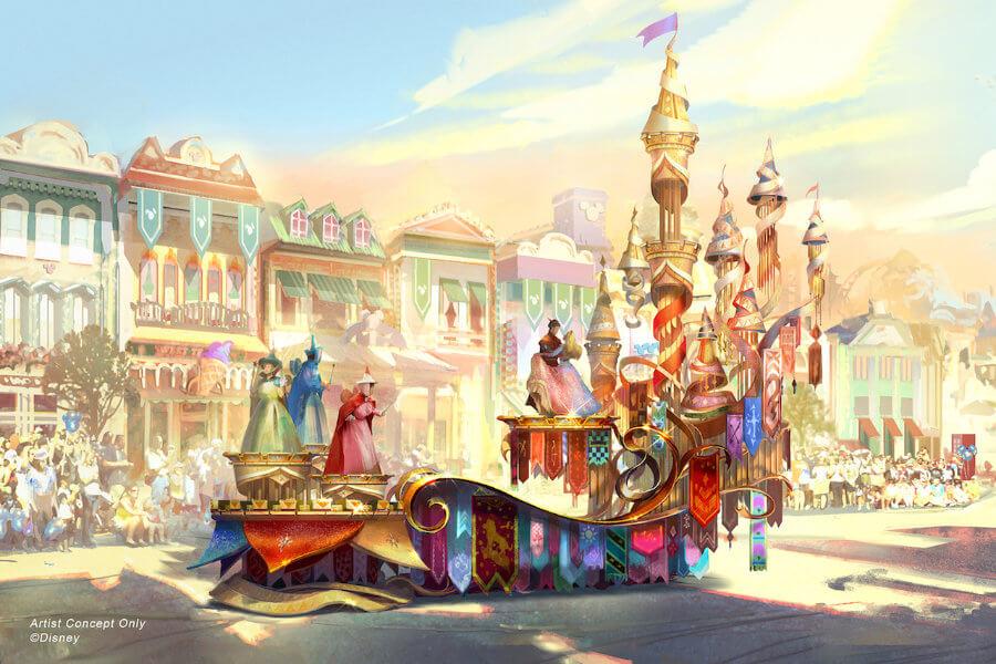 Magic happens מצעד חדש בדיסנילנד קליפורניה אורורה היפיפיה הנרדמת