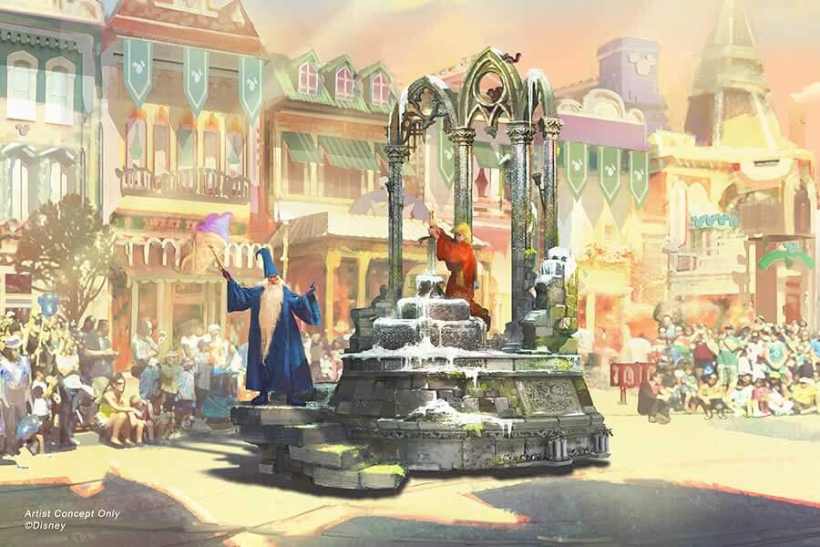Magic happens מצעד חדש בדיסנילנד קליפורניה החרב באבן